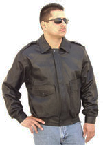 G100 Bomber Leather Jacket