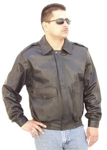 G100 Mens Leather Aviation Bomber jacket with zip out liner