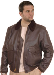 G1 Navy Bomber Jacket in Deerskin
