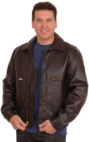 G2 Raider Cowhide Bomber Jacket with Knit Cuffs & Waist USA Made