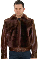 The Grizzly Leather Jacket with Real Fur
