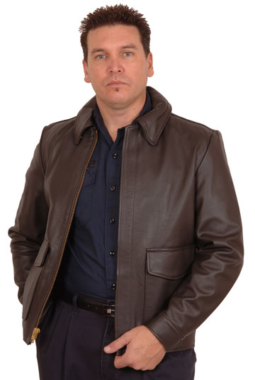 The Indiana Cowhide Leather Bomber Jacket Made in the USA