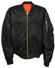 MA1 Black Nylon Pilot Jacket