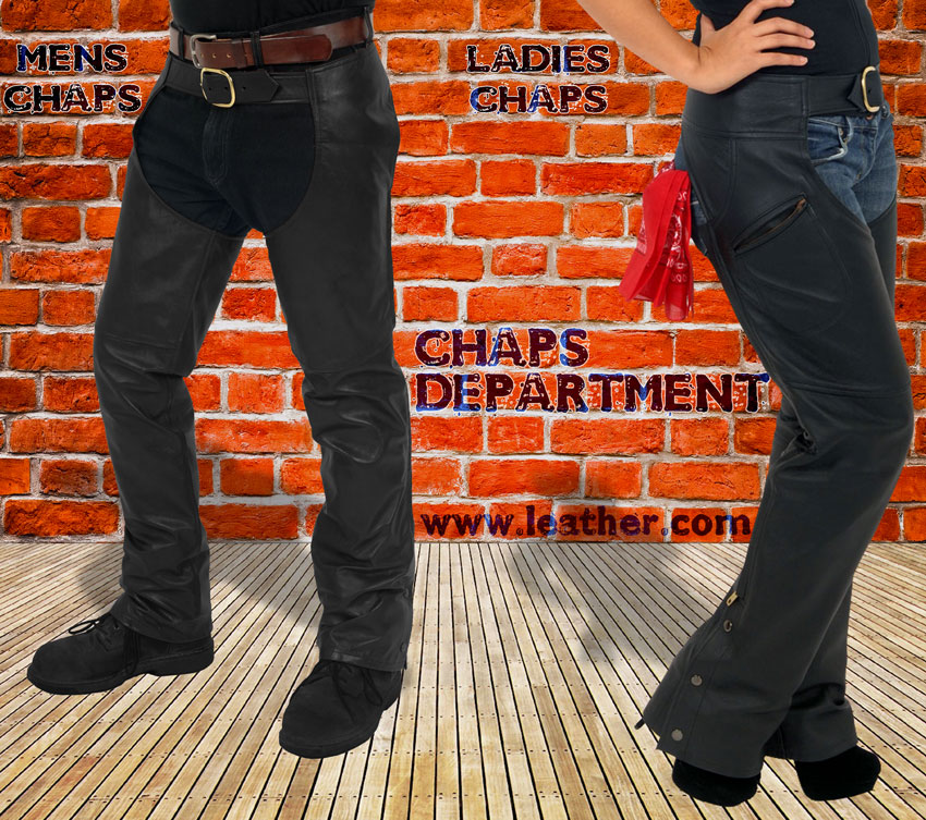 Department of Leather Motorcycle Chaps for Men and Women