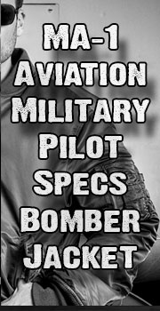 MA1 Aviation Military Pilot Specs Nylon Jacket Sale