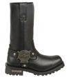 MB131 Mens Milwaukee Leather 11 inch Harness Boots with Square Toe and Zipper Right View