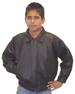 Kids K5 Leather Waist Bomber Jacket