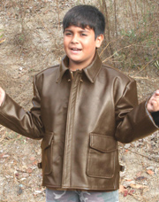 Kids Indiana Jones Leather Jacket Made in the USA