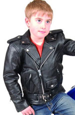 Click here for the Kids Goatskin Biker Jacket