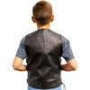 KV392 Kids Leather Vest with Laces Back View