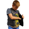 KV392 Kids Leather Vest with Laces Inside Pocket View