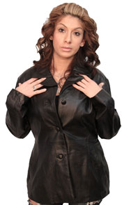A18 LADIES LEATHER BLAZER