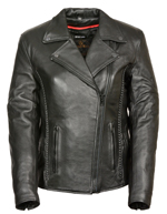 C10 Ladies Leather Biker Jacket