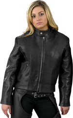 L101X Ladies Leather Biker Jacket Made in the USA