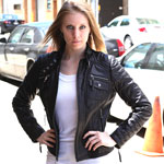N1128 New Zeland Lambskin Short Zipper Jacket