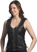 LV2682 Ladies Vest with Eyeleds
