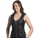 LV1282 Ladies Leather Vest