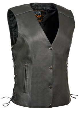 ladies leather vest with night vision