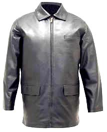 A104 Mens Napa Leather Stadium Jacket