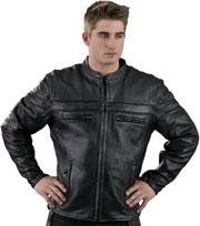 C1408 Men's Vented Motorcycle Leather Jacket