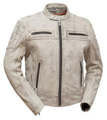C1408E Men's Vented Motorcycle Economy Leather Jacket