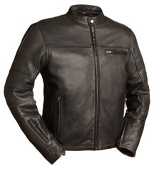 C255 Mens Slim Biker Jacket with Vents