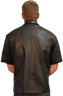 Shirt 2 Short sleeve Leather Shirt Back View