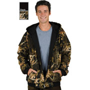 M1077 Mens Reversible Camouflage Hoodie Great to Layering with Leather Jackets