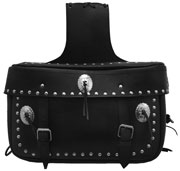 LEATHER SADDLE BAG WITH STUDS & CONCHO 18 ½ X 10½