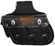 Saddle Bags 6 with Tan Embossed Eagle