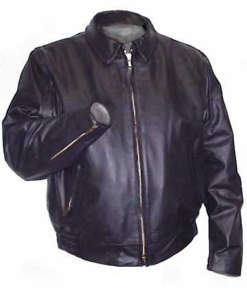 341 Vented Biker Leather Jacket