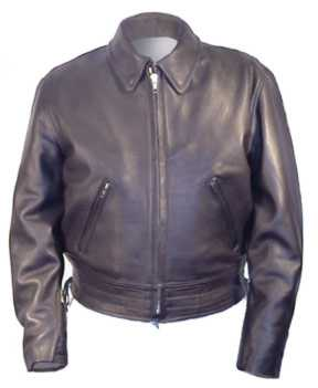 Police B Law Enforcement Uniform Style Motorcycle Riding Leather Jacket