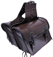 Brown Leather Saddle Bags Closout Price