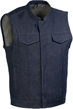 Click here for the VDM691 Blue Denim Club Vest with Zipper